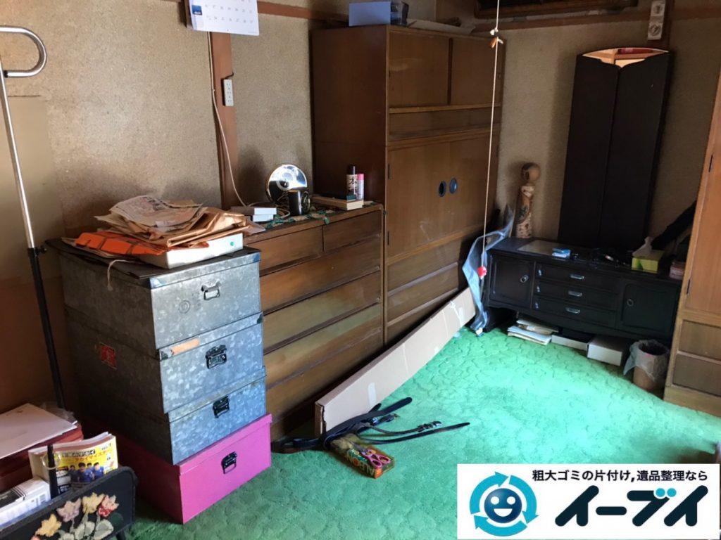 2019年12月30日大阪府箕面市で婚礼家具の大型家具などの不用品回収作業。写真2