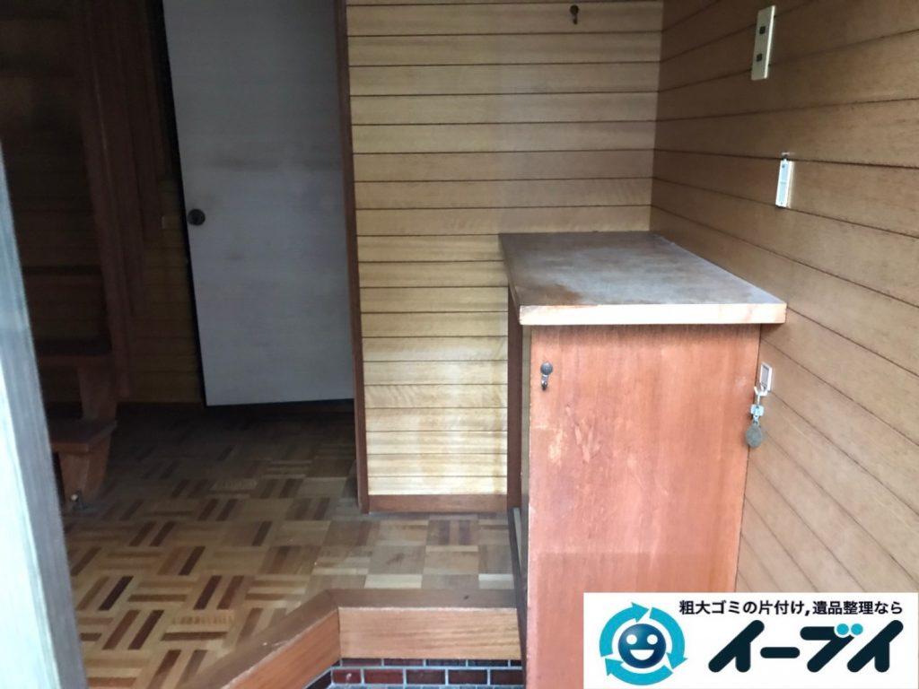 2019年12月30日大阪府箕面市で婚礼家具の大型家具などの不用品回収作業。写真3