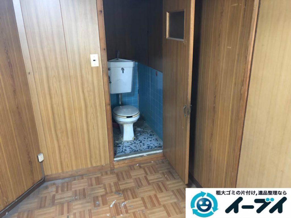 2020年1月6日大阪府大阪市大正区でゴミ屋敷化した汚部屋の片付け作業。写真2