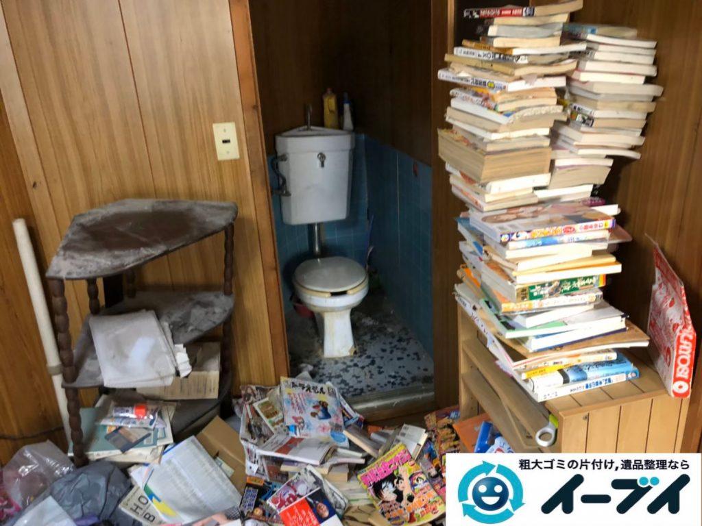 2020年1月6日大阪府大阪市大正区でゴミ屋敷化した汚部屋の片付け作業。写真1