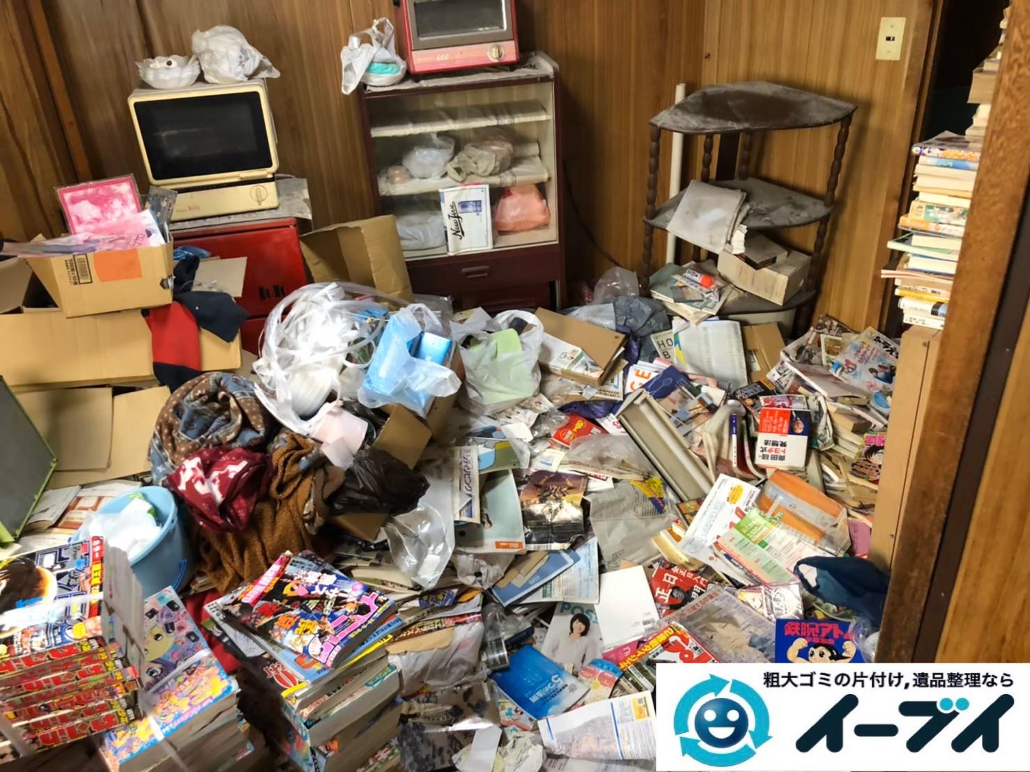 2020年1月3日大阪府堺市北区で物やゴミが散乱したゴミ屋敷の片付け作業。写真4