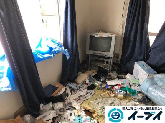 2019年12月31日大阪府堺市堺区で生活ゴミや食品ゴミが散乱したゴミ屋敷の片付け作業。写真3