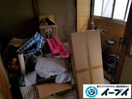 2020年1月21日大阪府堺市美原区で退去後の引越しゴミの不用品回収。写真3