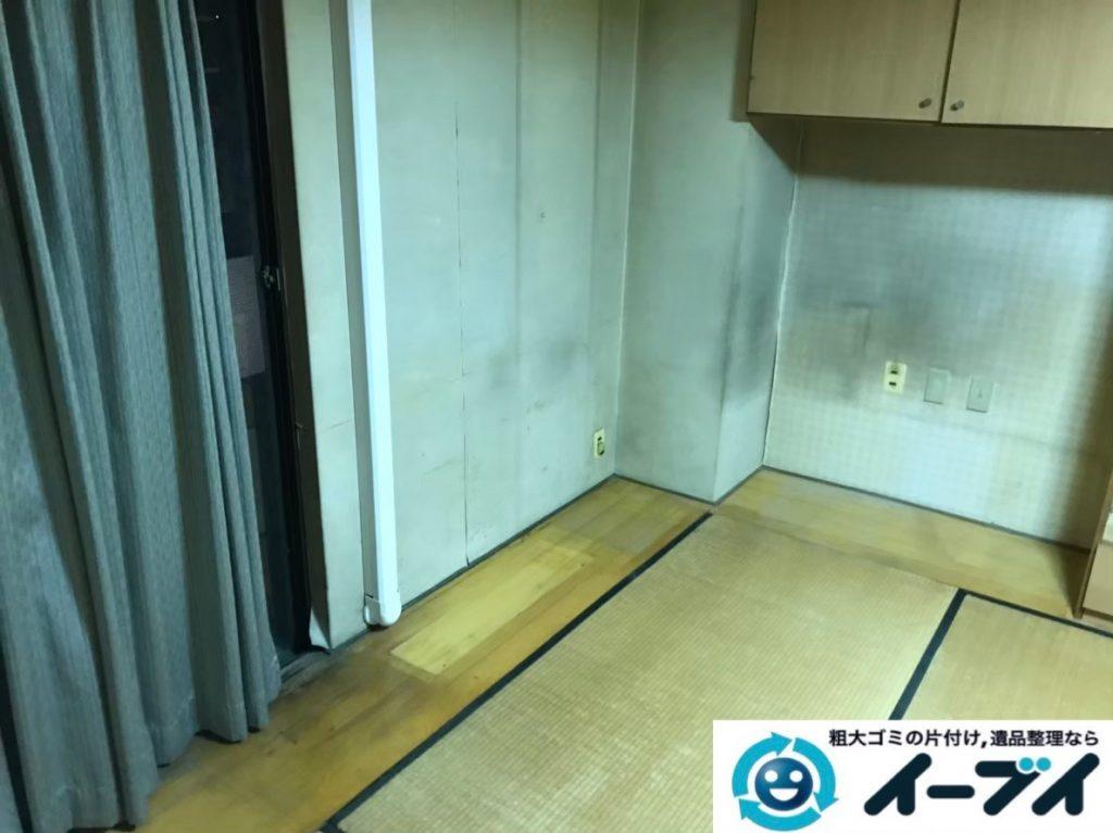 2020年1月10日大阪府貝塚市でテレビや冷蔵庫の大型家電、電子ピアノなどの粗大ゴミ処分。写真4
