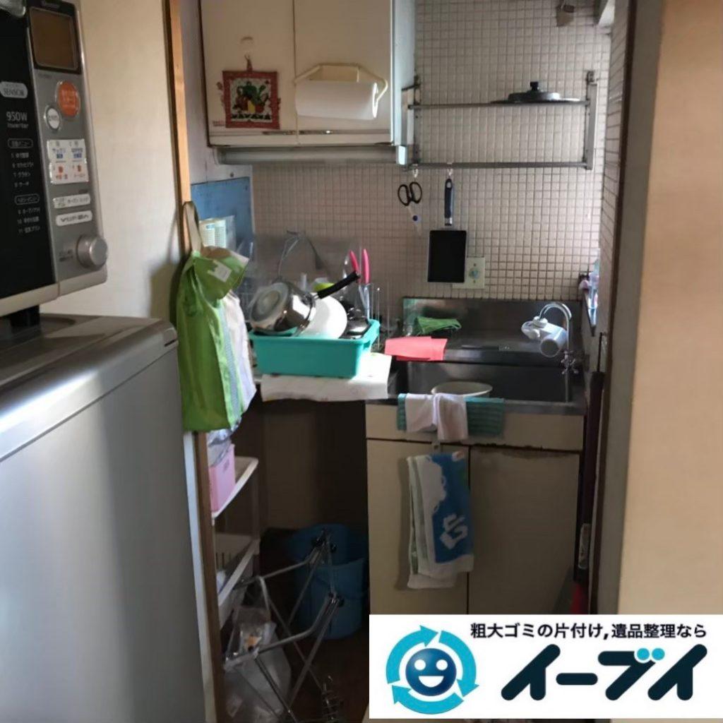 2020年1月10日大阪府貝塚市でテレビや冷蔵庫の大型家電、電子ピアノなどの粗大ゴミ処分。写真1
