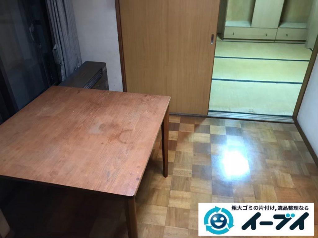 2020年1月9日大阪府藤井寺市でテーブルの大型家具、冷蔵庫の大型家電の不用品回収。写真4