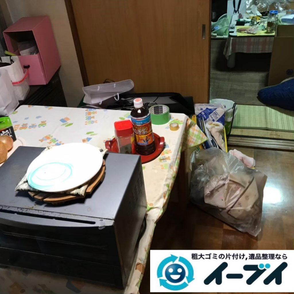 2020年1月9日大阪府藤井寺市でテーブルの大型家具、冷蔵庫の大型家電の不用品回収。写真3