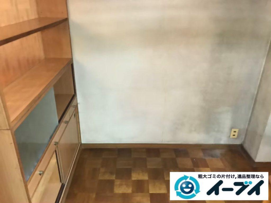 2020年1月9日大阪府藤井寺市でテーブルの大型家具、冷蔵庫の大型家電の不用品回収。写真2