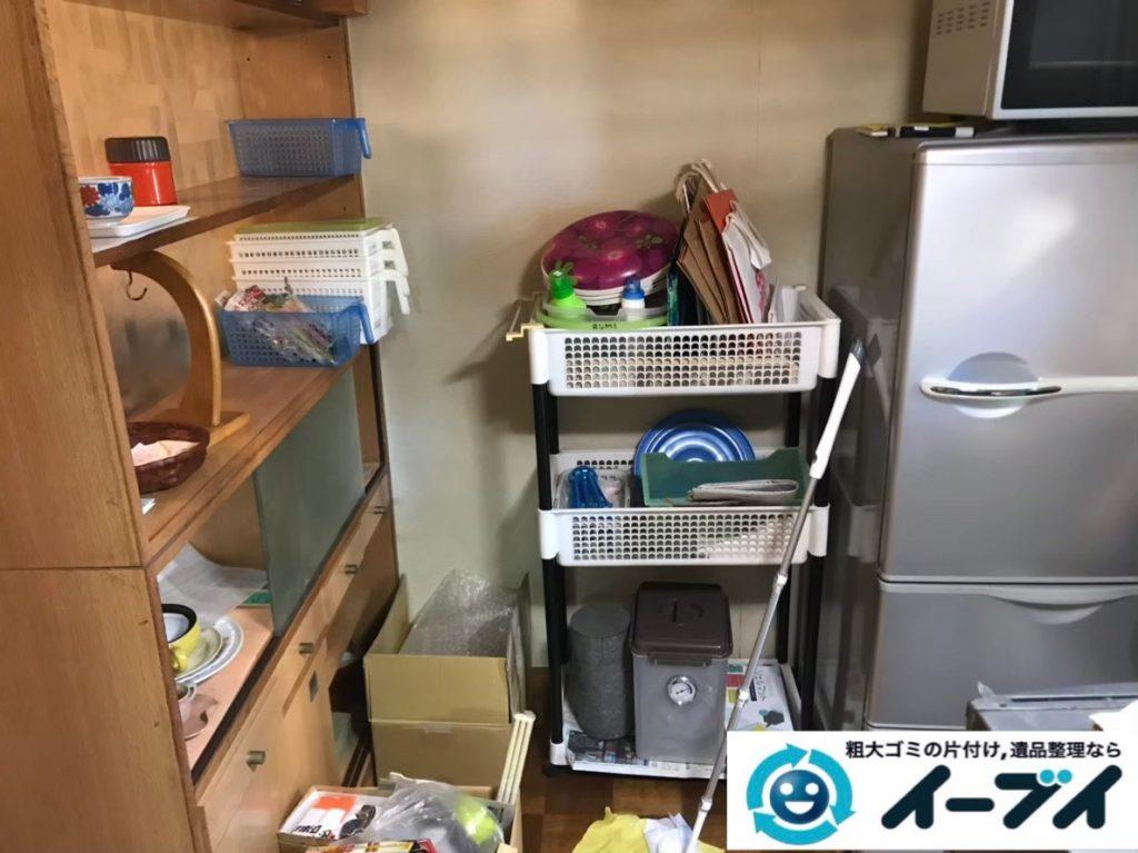2020年1月9日大阪府藤井寺市でテーブルの大型家具、冷蔵庫の大型家電の不用品回収。写真1