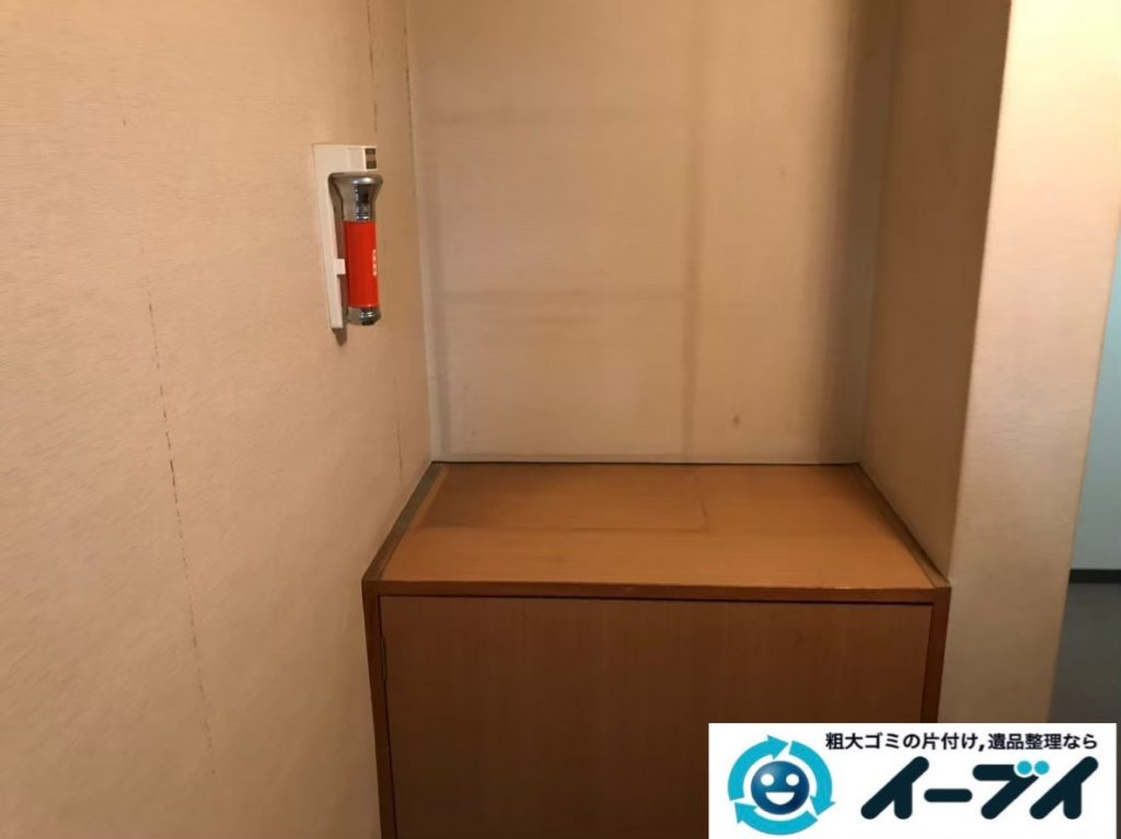 2020年1月8日大阪府茨木市で本棚や靴など、玄関周りの不用品回収。写真4
