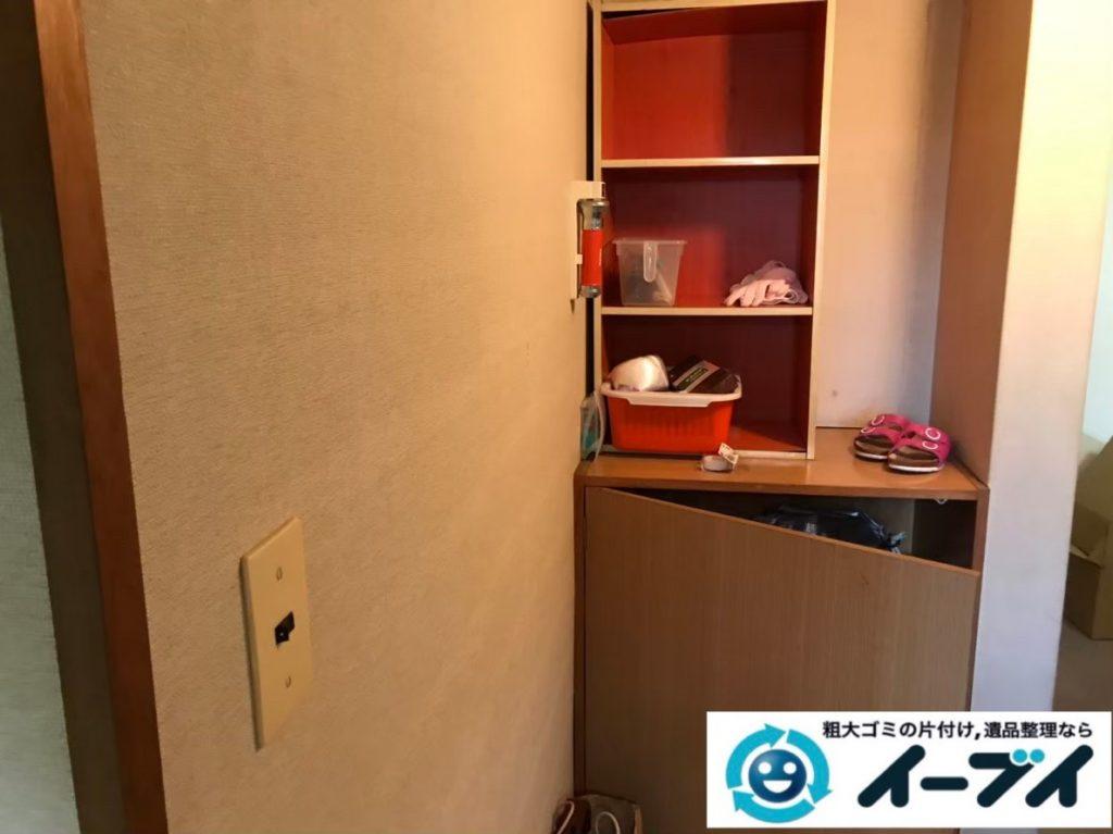 2020年1月8日大阪府茨木市で本棚や靴など、玄関周りの不用品回収。写真3