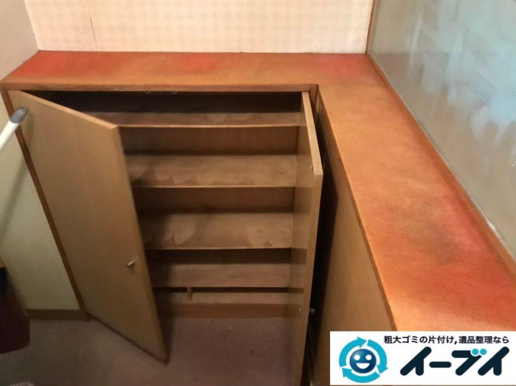 2020年1月8日大阪府茨木市で本棚や靴など、玄関周りの不用品回収。写真2