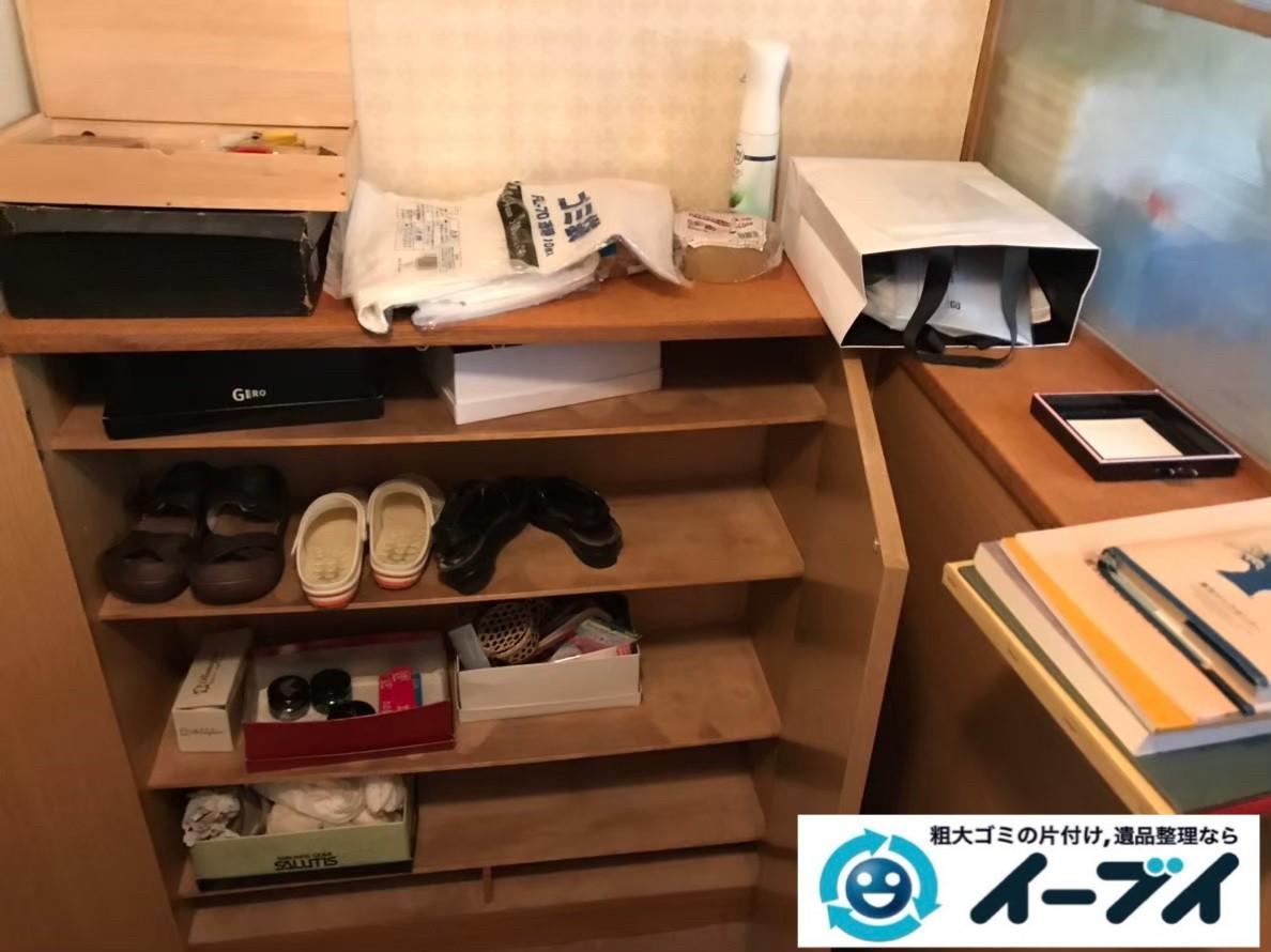 2020年1月8日大阪府茨木市で本棚や靴など、玄関周りの不用品回収。写真1