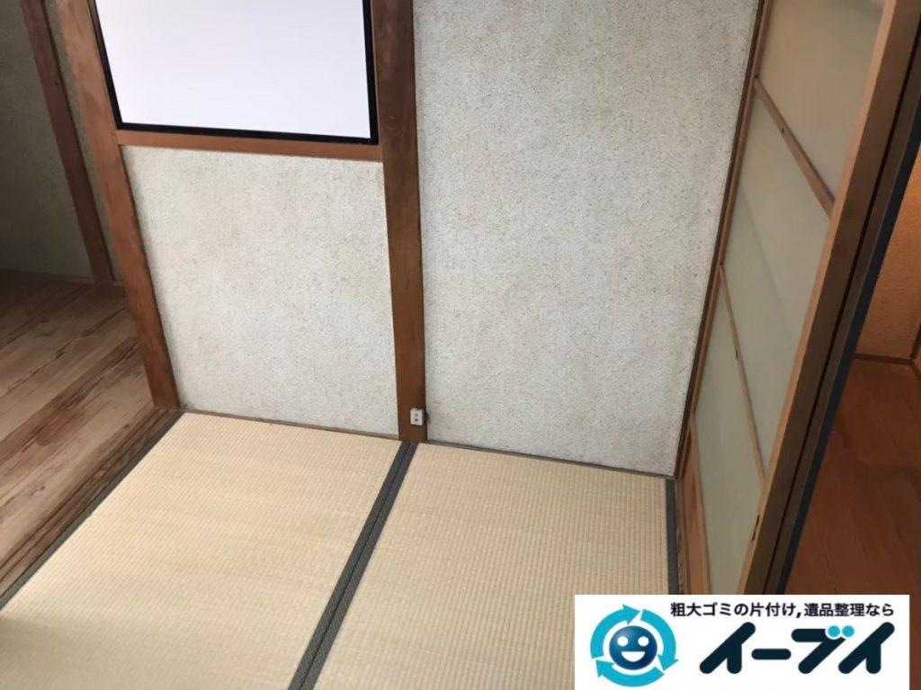 2020年2月3日大阪府大東市で引越しに伴い、引っ越しゴミや不用品回収作業。写真3