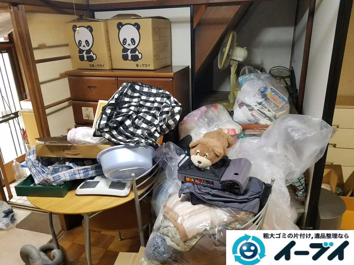 2020年大阪府城東区で粗大ゴミ、生活用品やゴミが散乱した汚部屋の片付け。写真3
