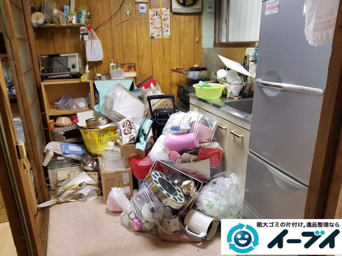 2020年1月30日大阪府吹田市で家具や家電、生活用品や生活ゴミが散乱したゴミ屋敷の片付け作業です。写真3