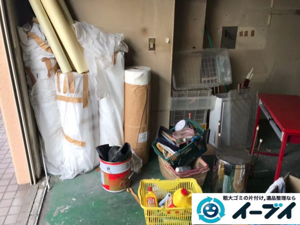 2020年1月28日大阪府交野市で退去に伴い、不要になった残置物を片付けさせていただきました。写真1