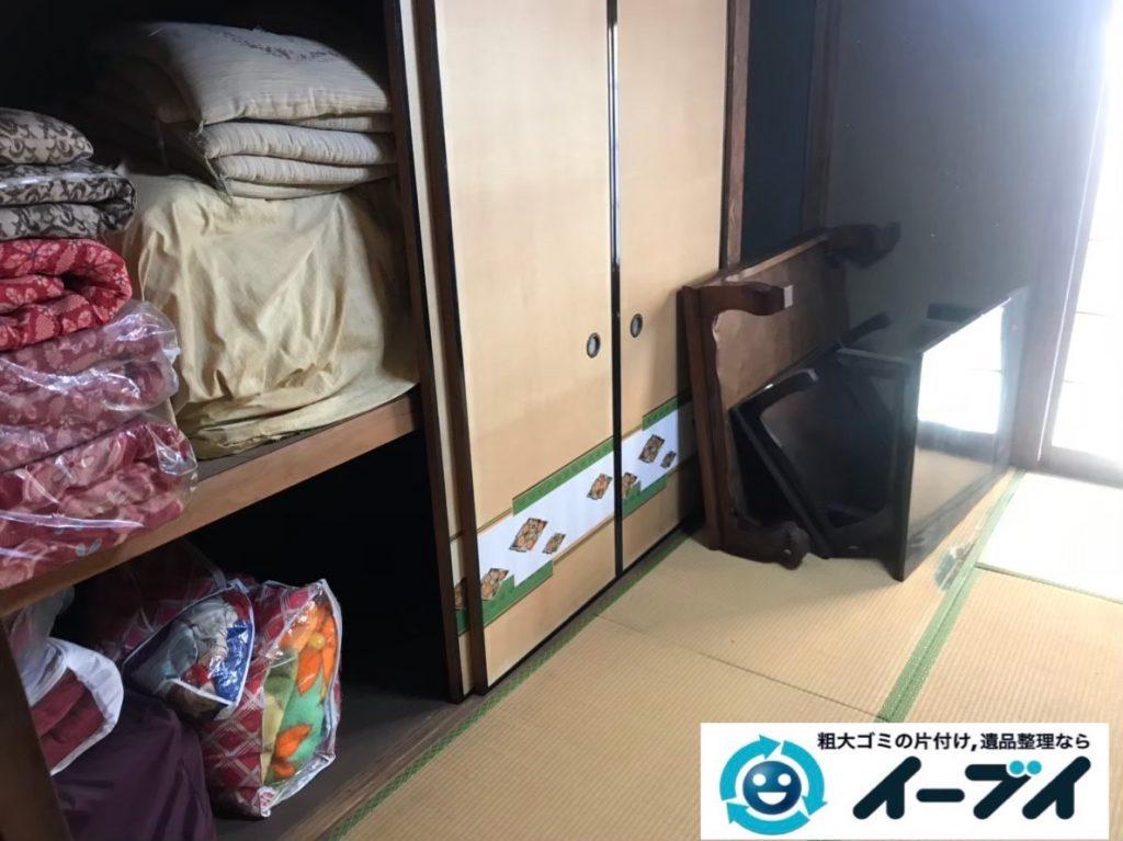 2020年3月5日大阪府堺市美原区で婚礼家具の大型家具、布団やテーブルなどの不用品回収。写真3