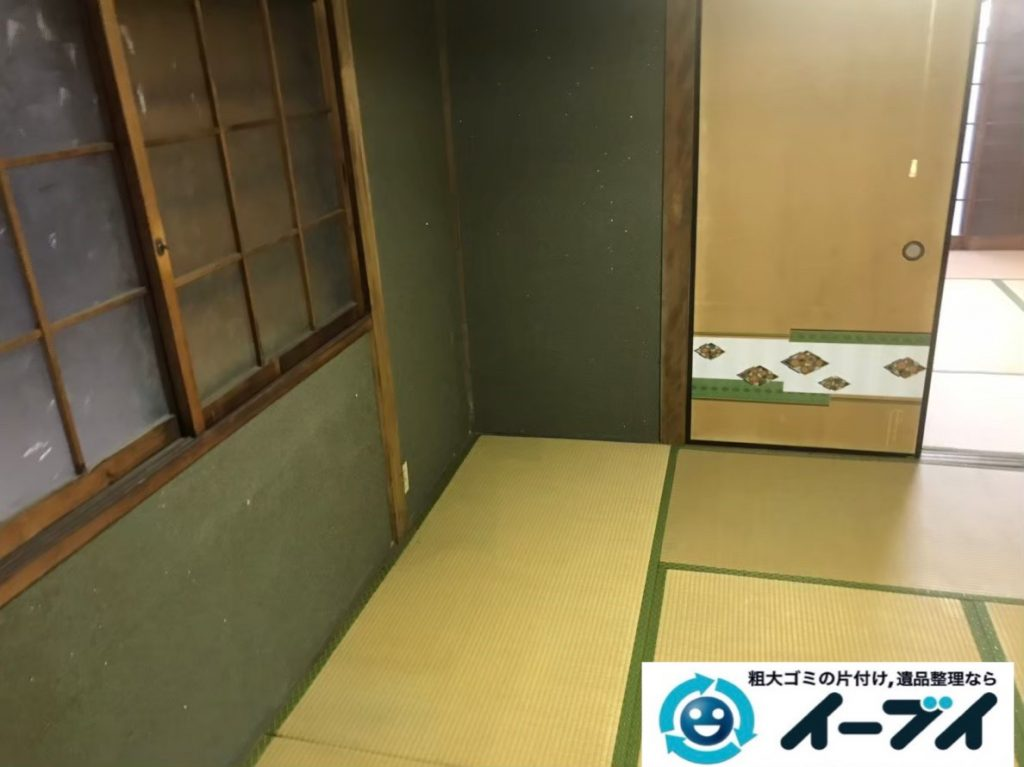 2020年3月5日大阪府堺市美原区で婚礼家具の大型家具、布団やテーブルなどの不用品回収。写真1