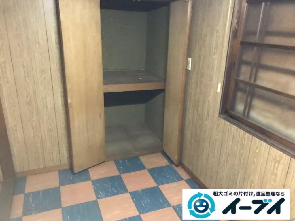 2020年2月27日大阪府堺市南区で押し入れや廊下の片付け作業。写真4