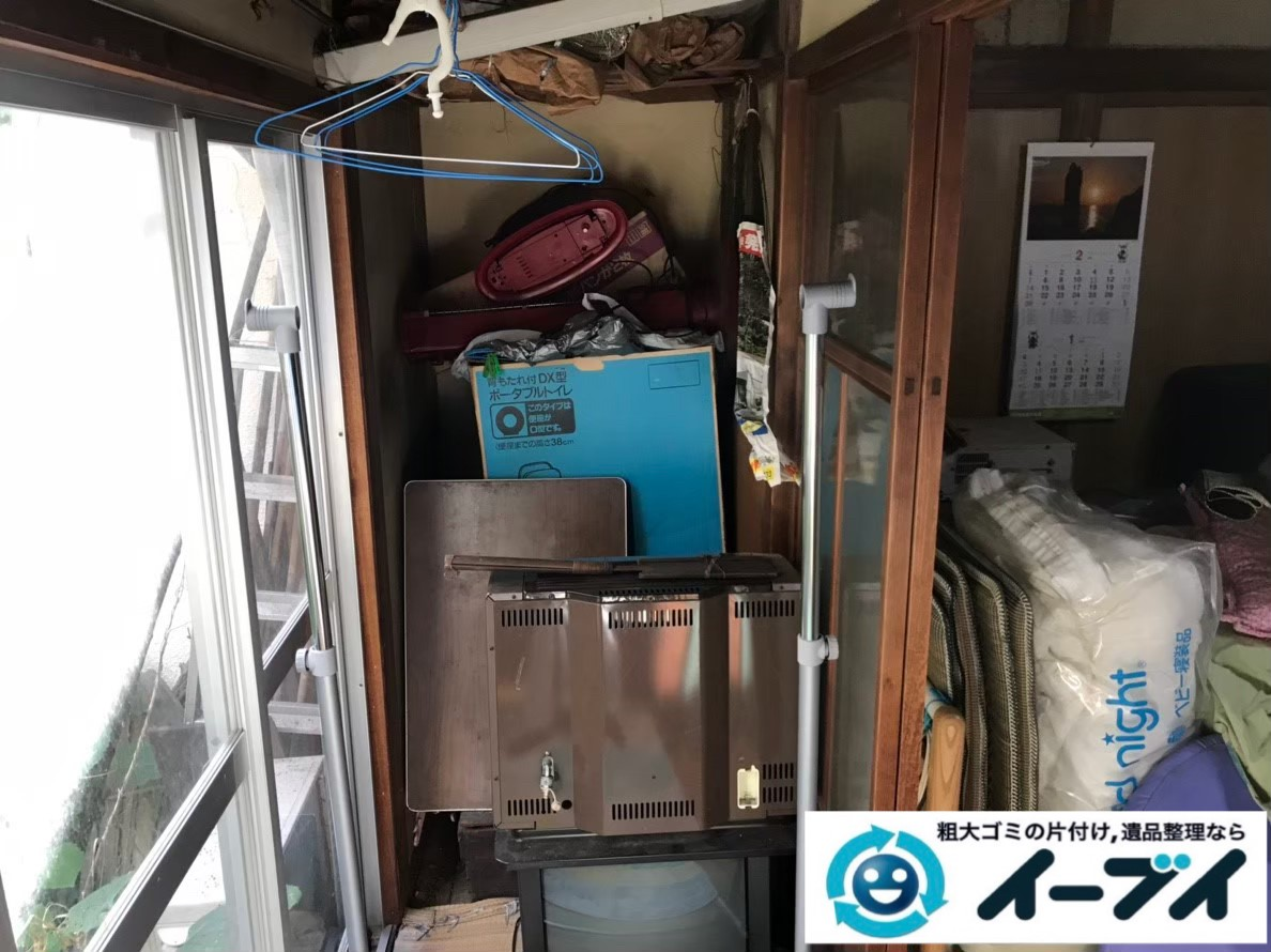 2020年2月1日大阪府堺市堺区で退去に伴い、テーブルや収納棚の不用品回収作業。写真3