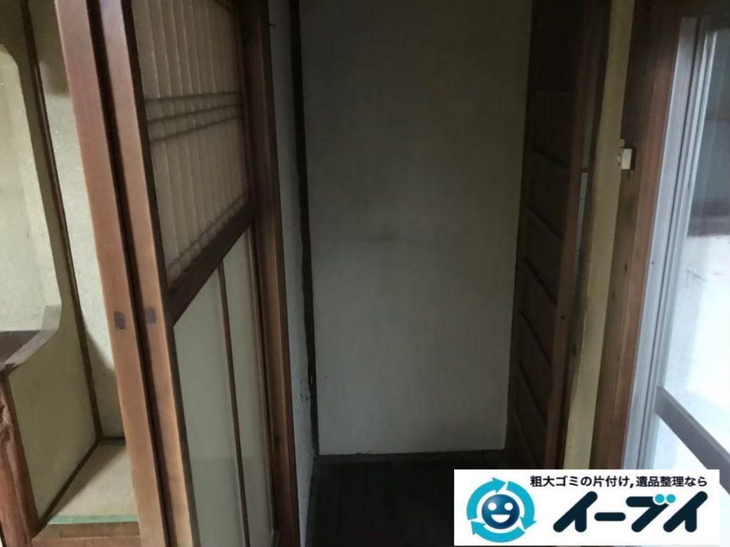 2020年2月1日大阪府堺市堺区で退去に伴い、テーブルや収納棚の不用品回収作業。写真2