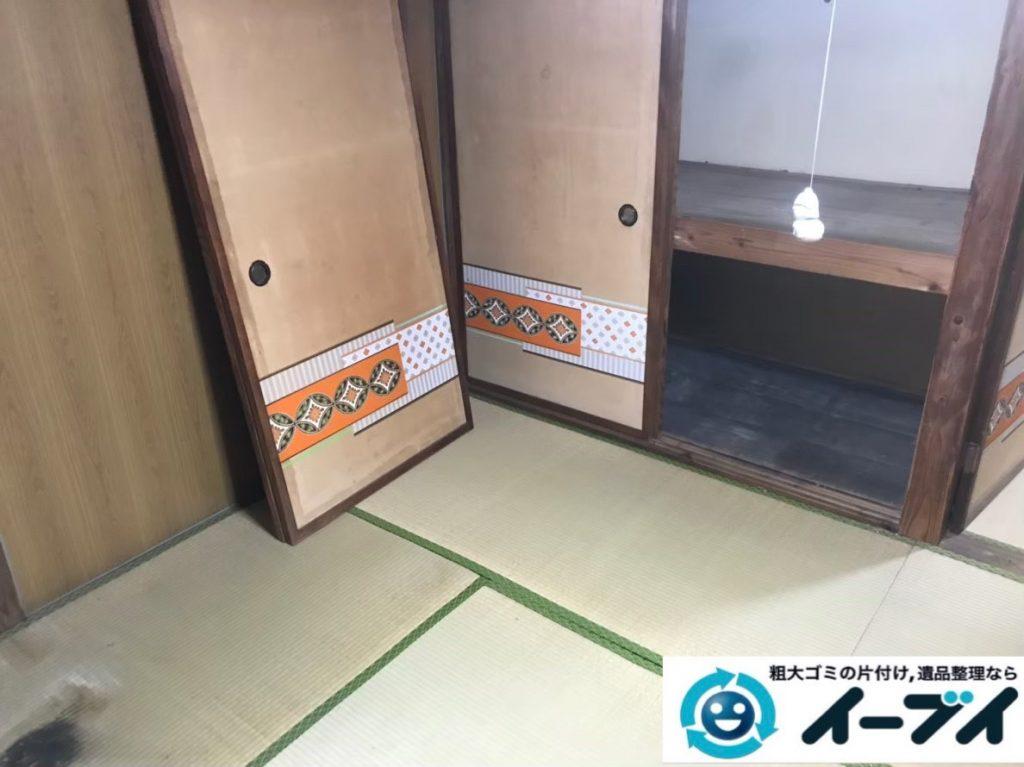 2020年2月28日大阪府四条畷市でゴミ屋敷化した汚部屋の片付け作業。写真4