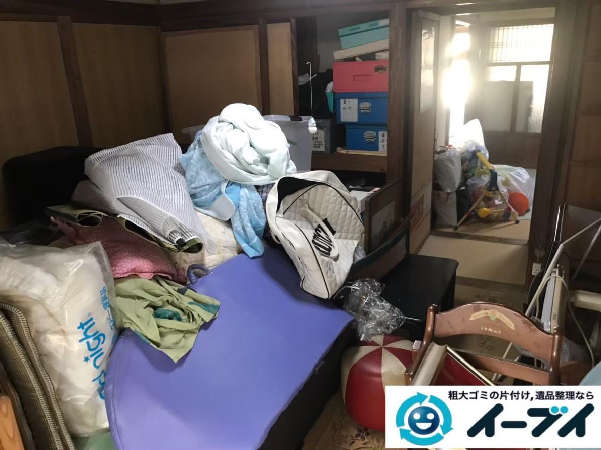 2020年2月28日大阪府四条畷市でゴミ屋敷化した汚部屋の片付け作業。写真3