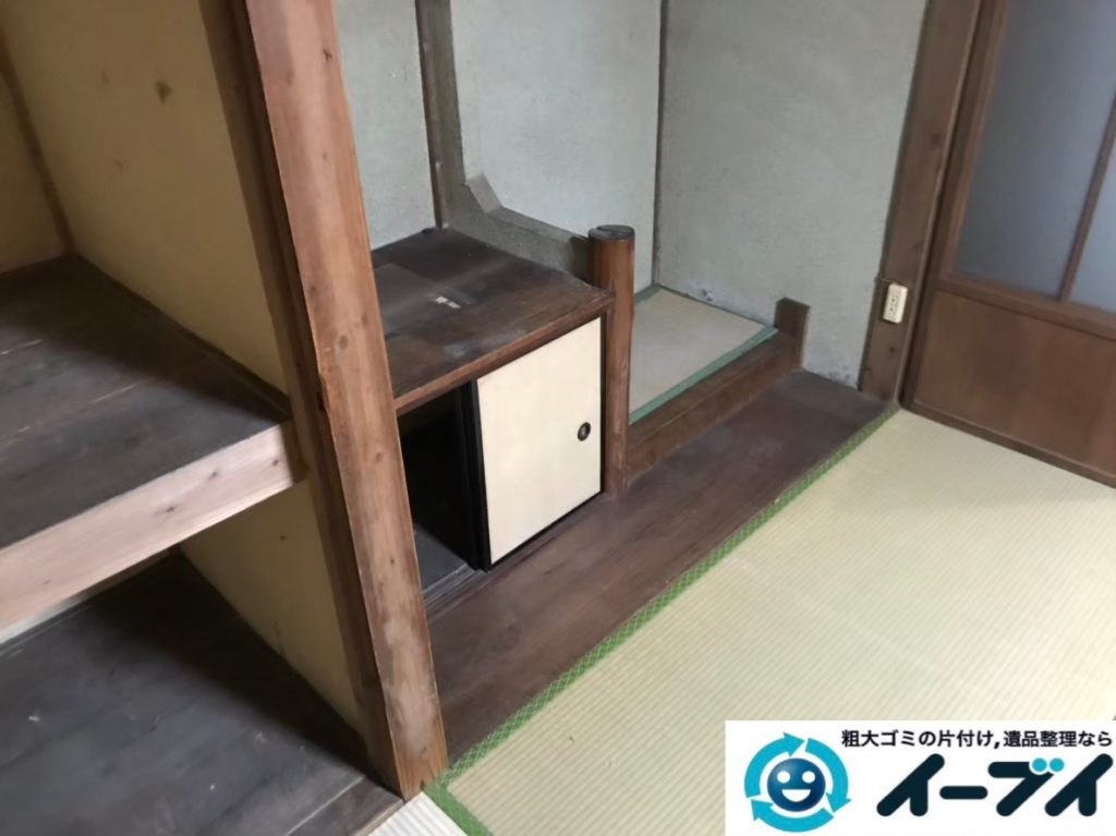 2020年3月4日大阪府堺市北区で食器棚や整理箪笥の大型家具処分をさせていただきました。写真4