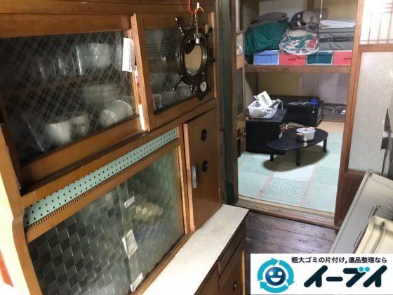 2020年3月4日大阪府堺市北区で食器棚や整理箪笥の大型家具処分をさせていただきました。写真1
