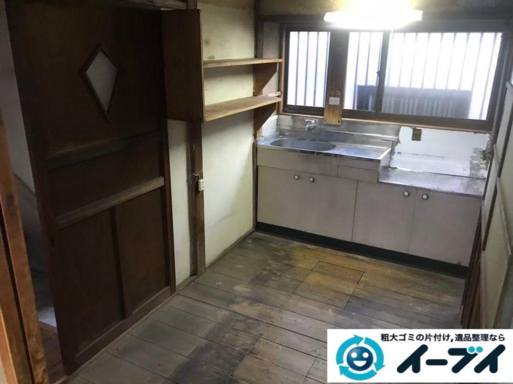 2020年2月21日大阪府堺市中区で和箪笥や食器棚の大型家具、洗濯機の大型家電などの不用品回収。写真4