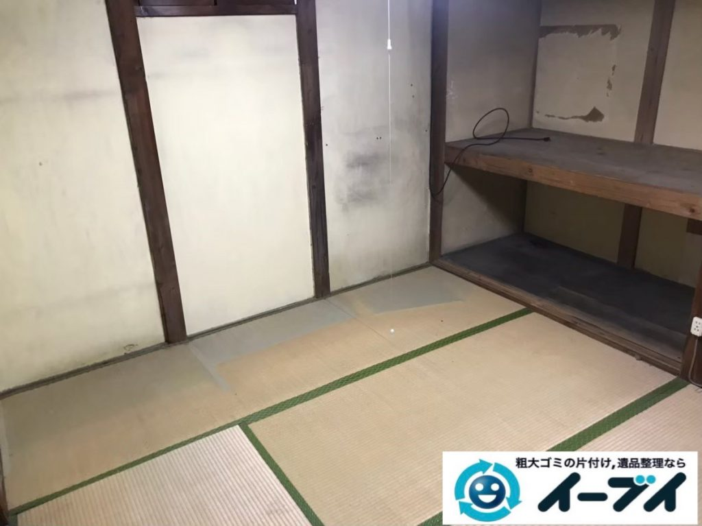 2020年2月21日大阪府堺市中区で和箪笥や食器棚の大型家具、洗濯機の大型家電などの不用品回収。写真2