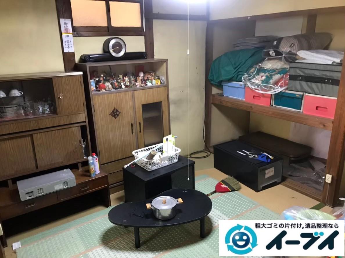 2020年2月21日大阪府堺市中区で和箪笥や食器棚の大型家具、洗濯機の大型家電などの不用品回収。写真1