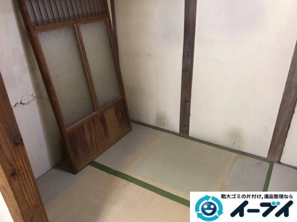 2020年3月2日大阪府八尾市で婚礼家具の大型家具、本棚などの不用品回収。写真4