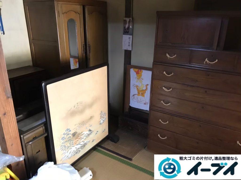 2020年3月2日大阪府八尾市で婚礼家具の大型家具、本棚などの不用品回収。写真3