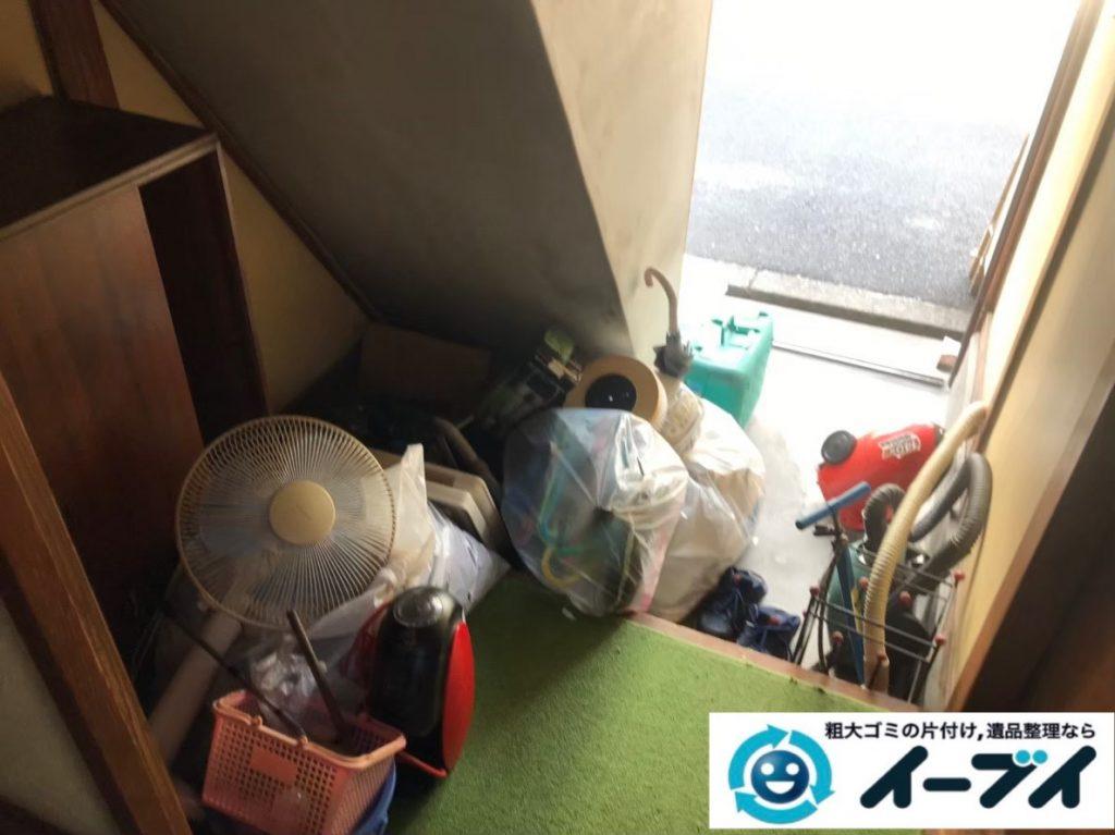 2020年3月2日大阪府八尾市で婚礼家具の大型家具、本棚などの不用品回収。写真1