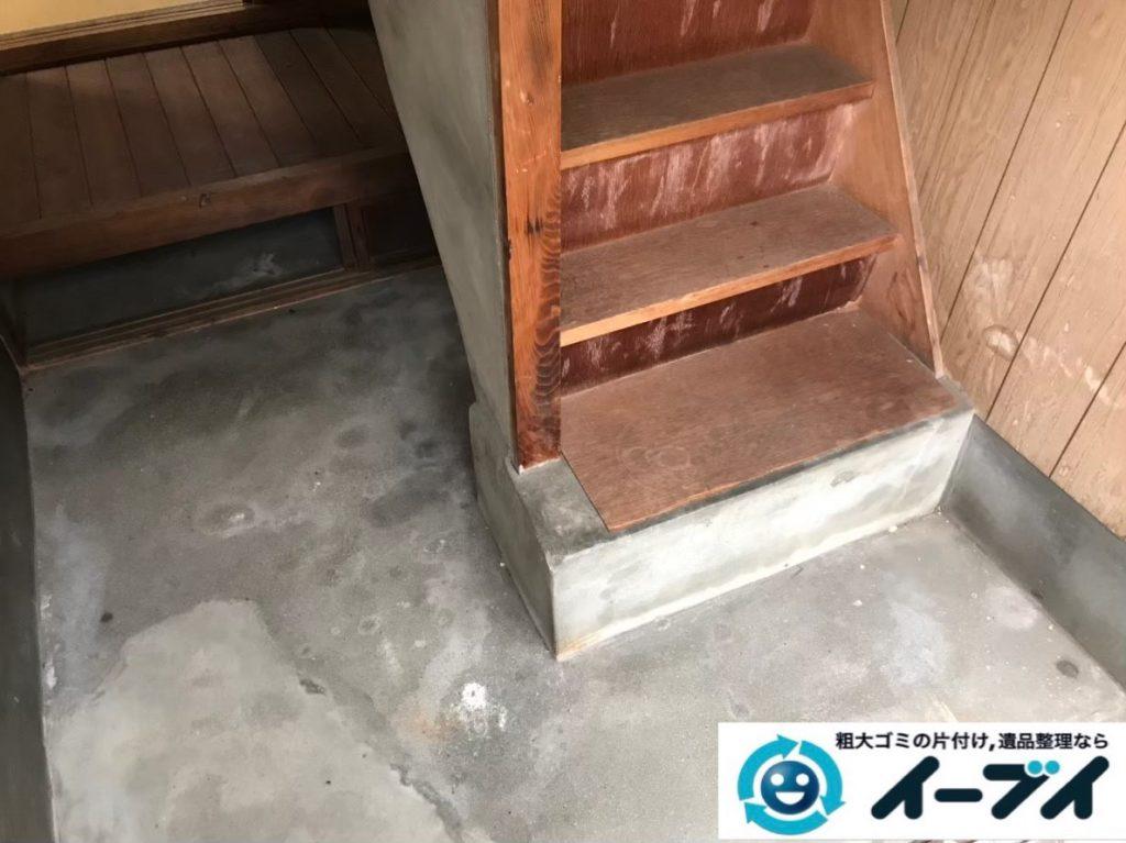2020年2月24日大阪府千早赤阪村で掃除機や扇風機など不用品回収作業。写真2