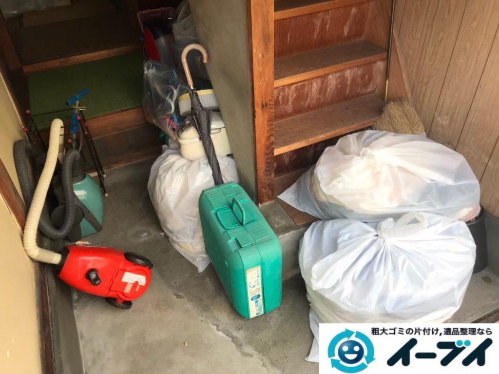 2020年2月24日大阪府千早赤阪村で掃除機や扇風機など不用品回収作業。写真1