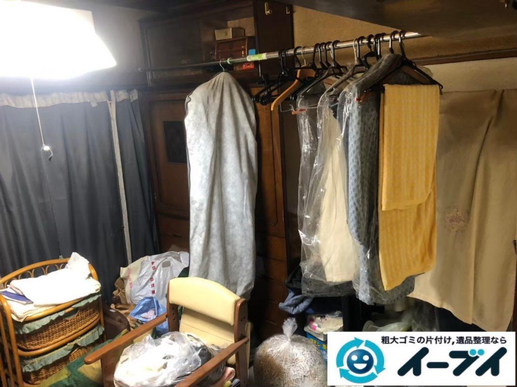 2020年2月18日大阪府大阪市城東区で和箪笥や整理箪笥の婚礼家具処分。写真1
