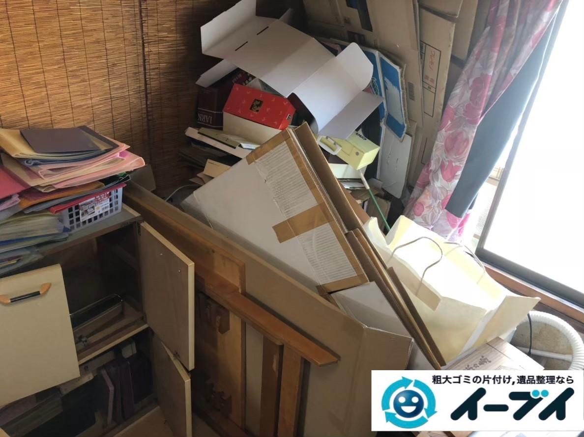 2020年3月16日大阪府大東市で生活用品や生活ゴミが散乱したゴミ屋敷の片付け作業のご依頼をいただきました。写真1