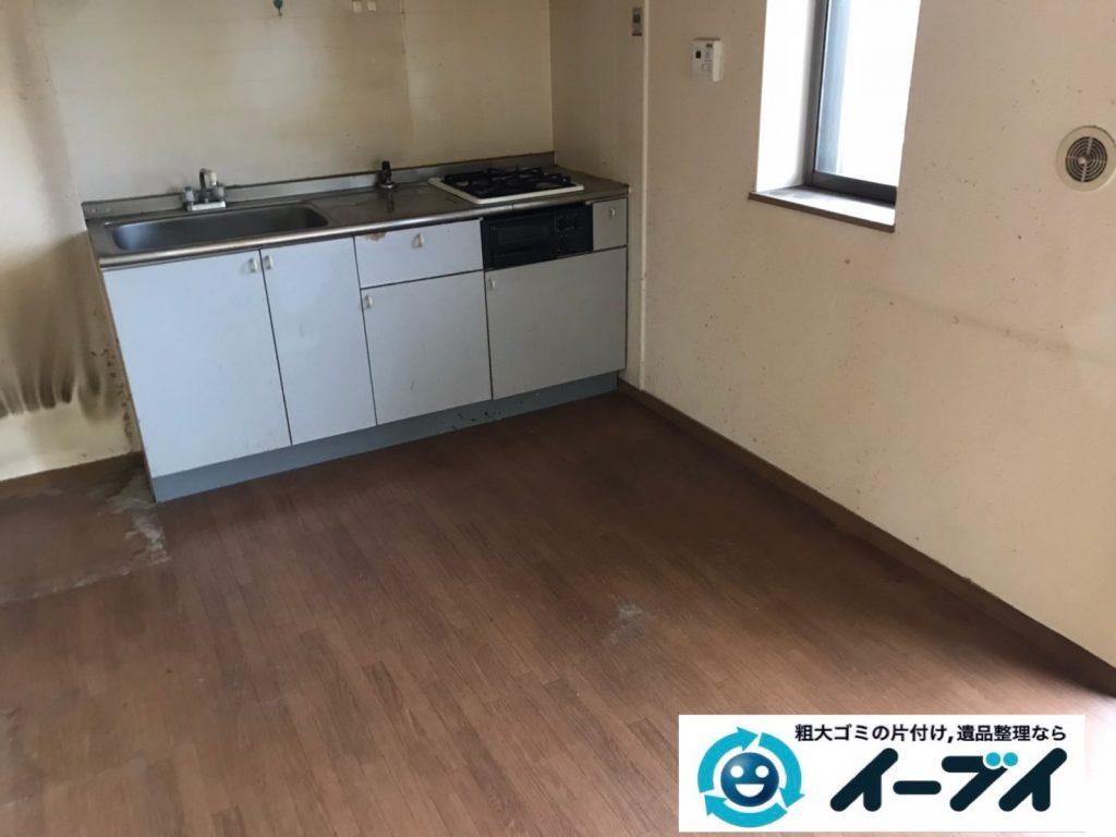 2020年3月12日大阪府大阪市北区で冷蔵庫、ヒーター、扇風機などの家電の不用品回収。写真2
