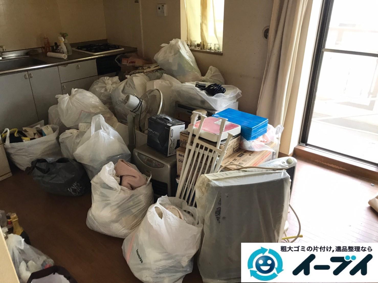 2020年3月12日大阪府大阪市北区で冷蔵庫、ヒーター、扇風機などの家電の不用品回収。写真1