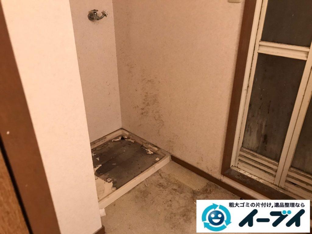 2020年3月10日大阪府大阪市中央区でエアコンや洗濯機の家電の不用品回収。写真4