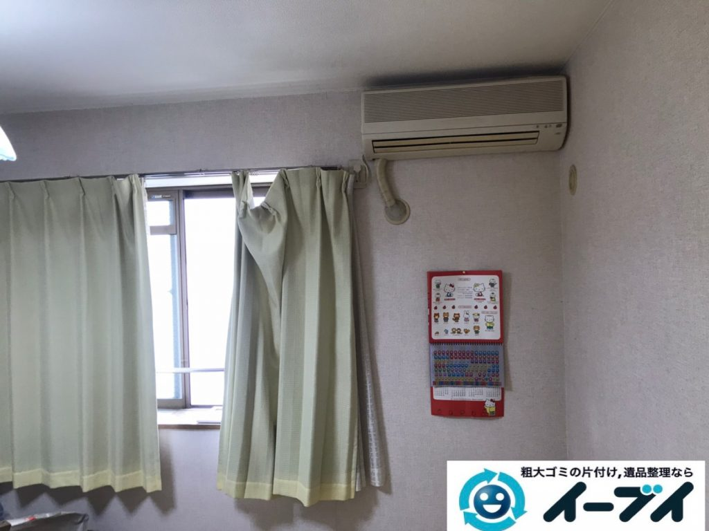 2020年3月10日大阪府大阪市中央区でエアコンや洗濯機の家電の不用品回収。写真1