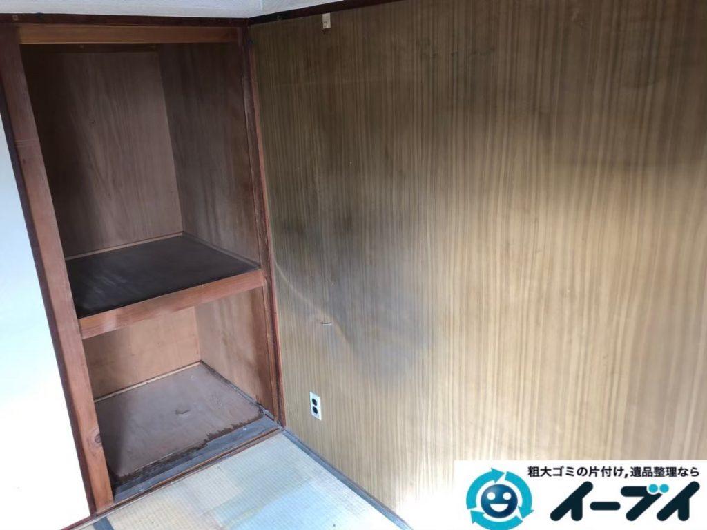 2020年4月2日大阪府大阪市東淀川区でお部屋と物置の不用品回収作業。写真2