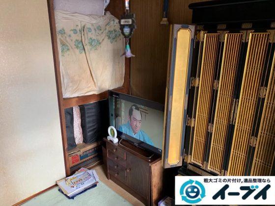 2020年4月2日大阪府大阪市東淀川区でお部屋と物置の不用品回収作業。写真1