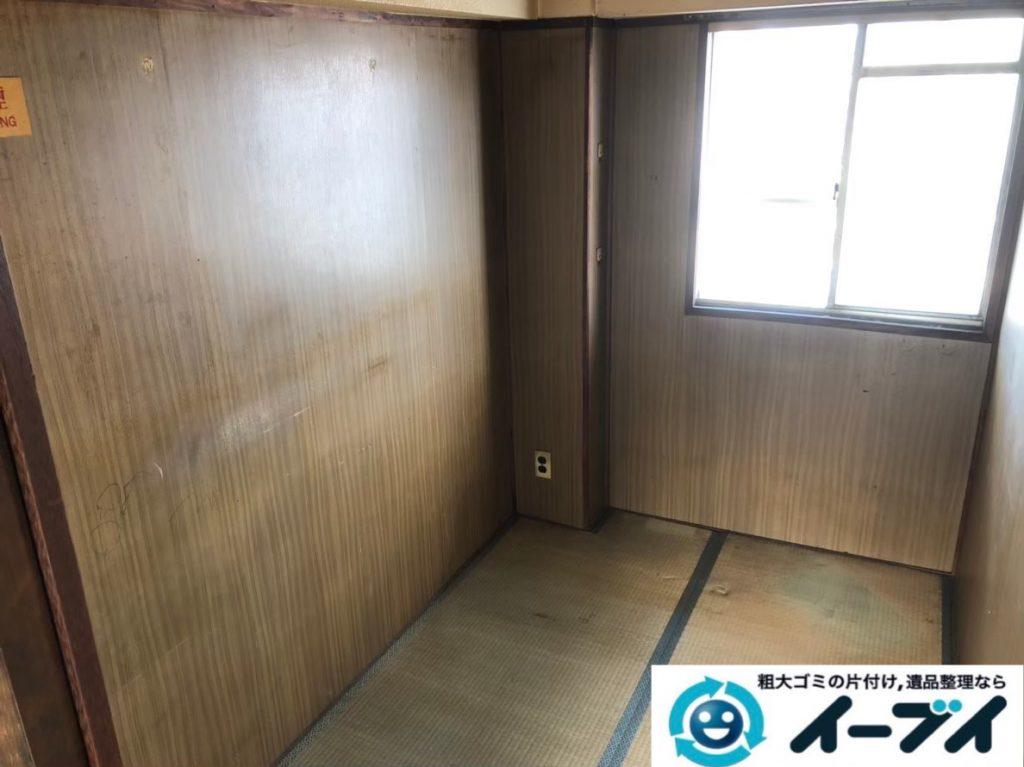 2020年3月23日大阪府大阪市東住吉区でベッドやテーブルの家具処分、テレビの家電処分の不用品回収作業。写真4