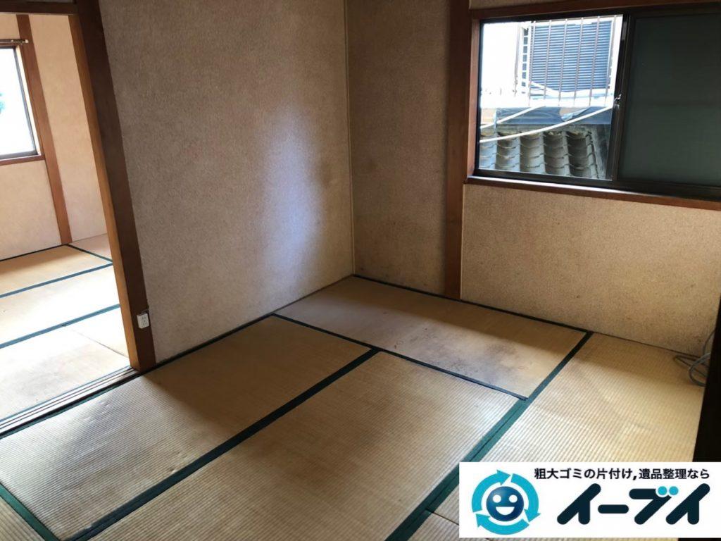 2020年3月31日大阪府大阪市港区で退去に伴い、お家の家財道具を一式処分させていただきました。写真2