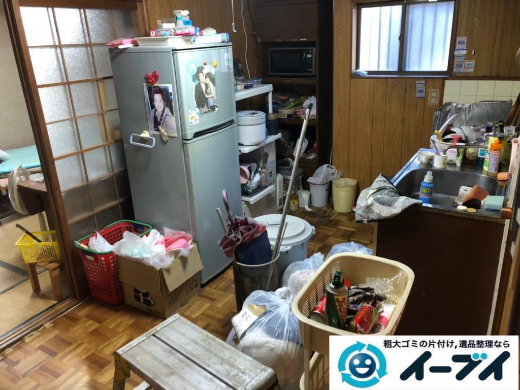2020年3月30日大阪府大阪市旭区で冷蔵庫の大型家電、収納ラックや収納棚の粗大ゴミ処分をさせていただきました。写真3