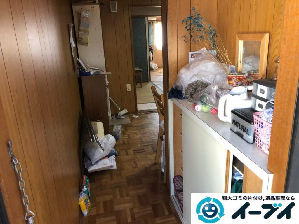 2020年3月30日大阪府大阪市旭区で冷蔵庫の大型家電、収納ラックや収納棚の粗大ゴミ処分をさせていただきました。写真1